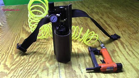 upholstery portable air  staple gun youtube
