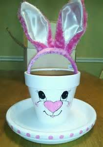 Clay Pot Easter Bunny Craft