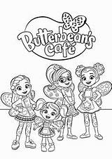 Butterbean Coloring Cafe Printable Cartoon Butterbeans Nick Jr Characters Sheets Cricket Books Disney Poppy Dazzle Colouring Colorear Babyhouse Website Gambar sketch template