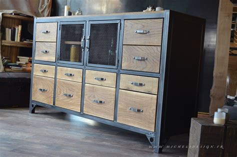 armoires de cuisine buffet industriel cagne chic micheli design