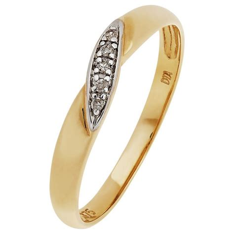 buy 9ct gold diamond accent twist wedding ring 3mm at argos co uk your online shop for