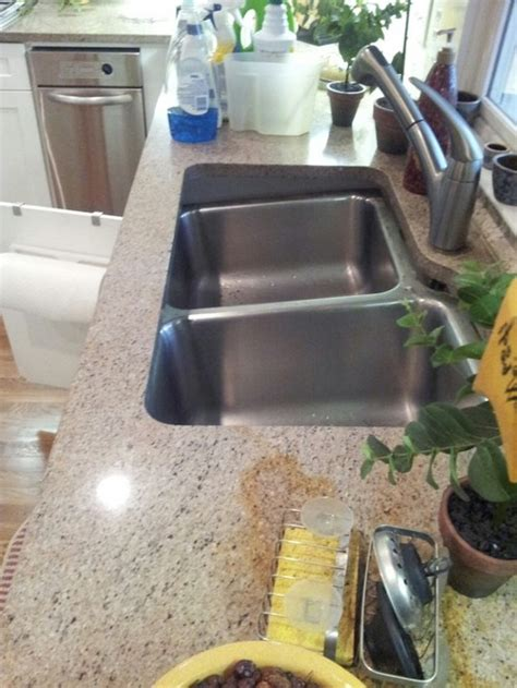 undermount sink keeps separating from granite