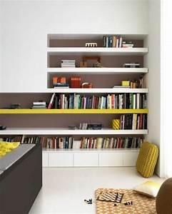 Etagere Murale Jaune : l tag re biblioth que comment choisir le bon design ~ Teatrodelosmanantiales.com Idées de Décoration