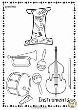 Coloring Alphabet Anastasiya Musical Instrument Printable Worksheets Pdf sketch template