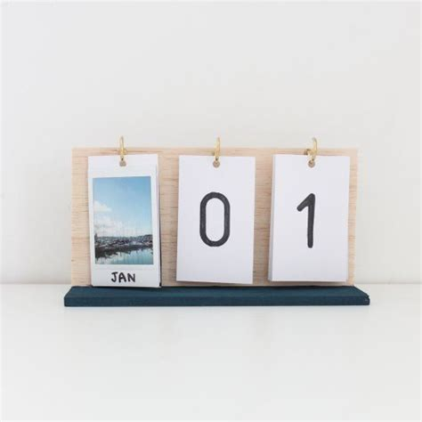 make a desk calendar with pictures make your own flip calendar using instax prints and some
