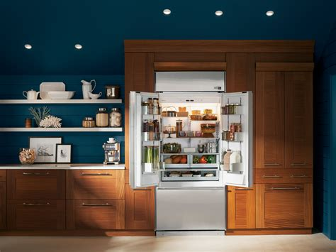 luxurious materials define ges  monogram french door built  refrigerator ge