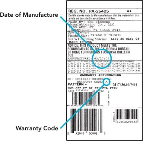simmons beautyrest warranty beautyrest mattress warranty a claim beautyrest