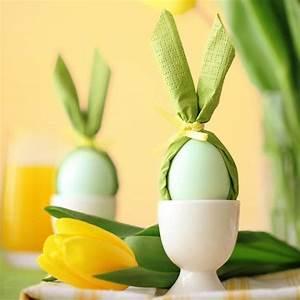 Tischdeko Für Ostern : dekoideen ostern tischdeko aus filz basteln ~ Watch28wear.com Haus und Dekorationen