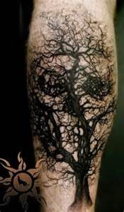 Skull Tree Tattoo