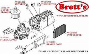 Acon1305 Air Con Conditioner Evaporator Coil 88501