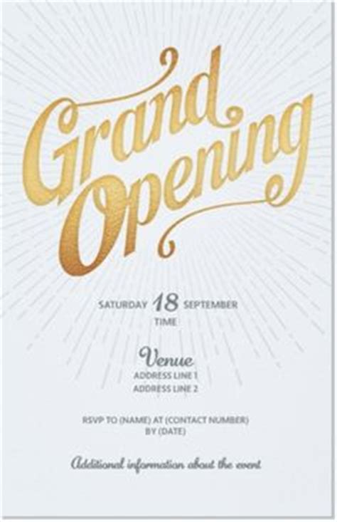 grand opening invitations images business