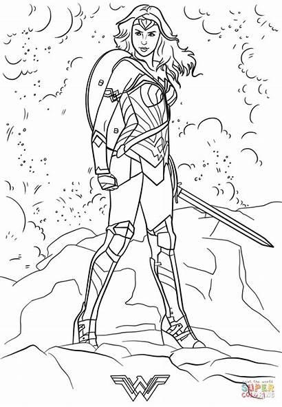 Coloring Pages Adult Superhero Avengers Para Wonder