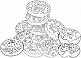 Coloring Gambar Donat Mewarnai Donut Donuts Printable Pintura Kue Sweet Yummy Desenhos Contoh Cartoon Colorir Colorful Tecido Ausmalbilder Ausmalen Colouring sketch template