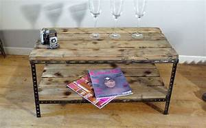 Fabriquer Une Table Basse En Palette : table basse palette pieds metal inspiration pour jardin ~ Melissatoandfro.com Idées de Décoration