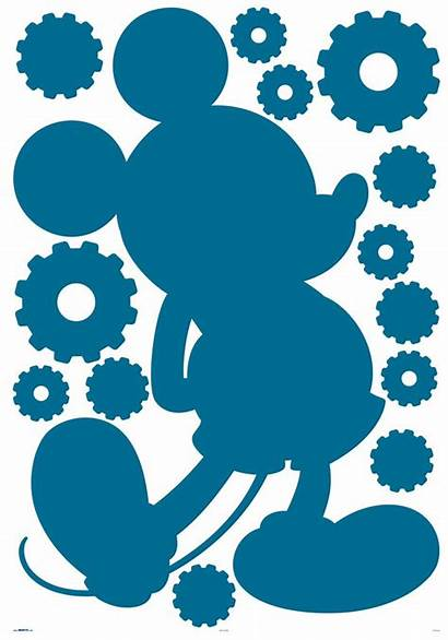 Mickey Mouse Silhouette Clubhouse Clipart Sticker Disney
