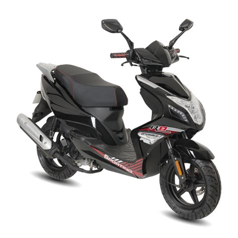 motorroller 25 km h fighter r8 25 sport 25 km h schwarz motorroller roller
