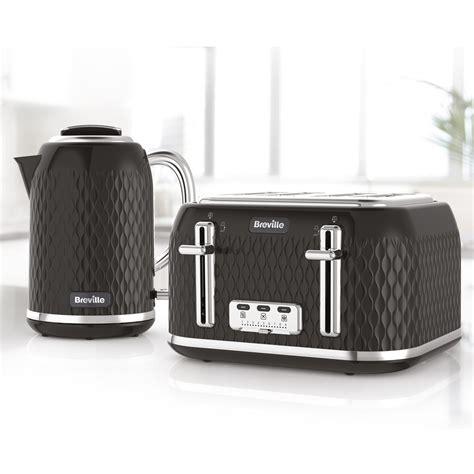 toaster kettle sets curve collection black kettle and toaster set vkt017