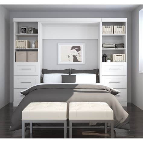 """Pur 109"""" Full Wall bed kit in White"""