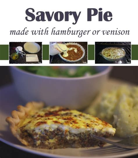 easy things to make with hamburger simple savory pie recipe make with hamburger or venison cleverly simple 174 recipes diy