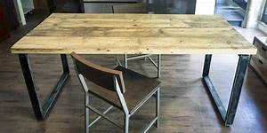 Tavoli industriali legno ferro offerta tavolo industriale on line