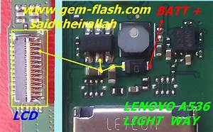 Lenovo A536 Cell Phone Screen Repair Light Problem Solution Jumper Ways