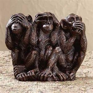 Statue Singe De La Sagesse : les trois singes de la sagesse ~ Teatrodelosmanantiales.com Idées de Décoration