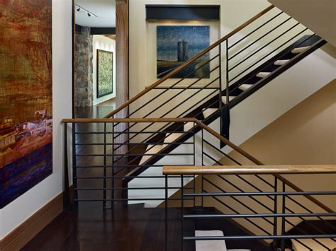 metal stair railing staircase rustic  art brown