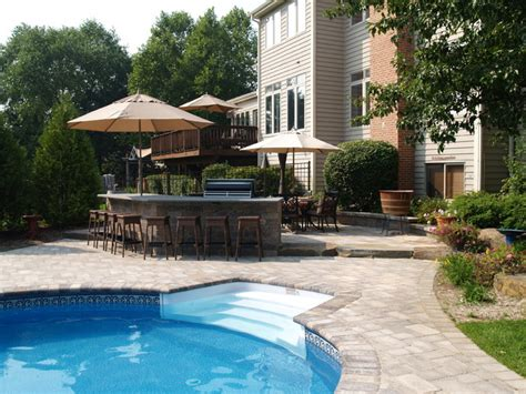 Crystal Lake Pool With Water Feature And Outdoor