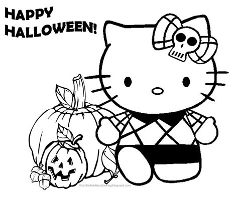 kitty halloween coloring pages  kitty