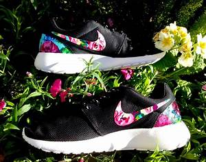Nike Roshe Runs with Floral on swooshes and heels by ...