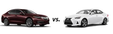 2017 acura tlx vs 2017 lexus is