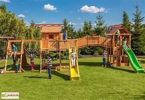 Jeux D Eau Jardin : jeux d 39 ext rieur aire de jeux portique trampoline mon ~ Melissatoandfro.com Idées de Décoration