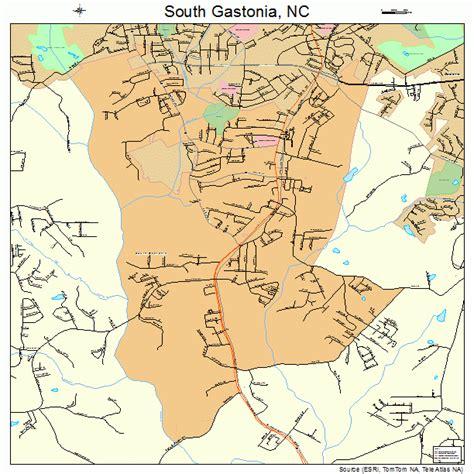 south nc south gastonia north carolina street map 3763180