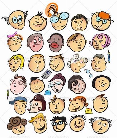 Cartoon Faces Funny Face Cartoons Different Clipart