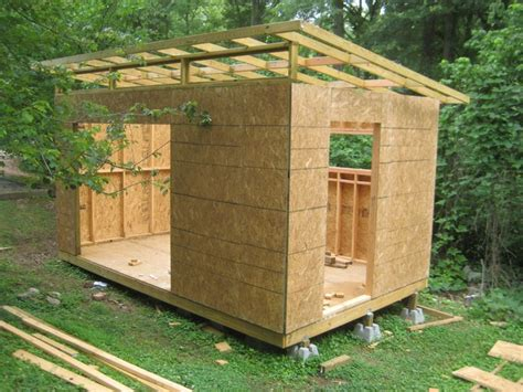 diy modern shed project house building  small houses