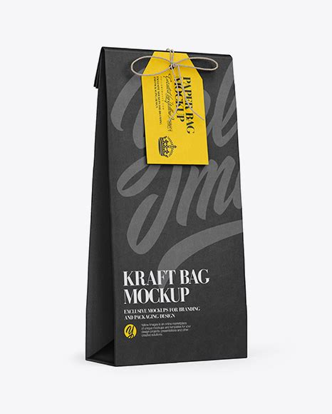 Showcase your designs in these blank mockups that are easy to edit. Download Kraft Paper Bag W/ Label Mockup - Half Side View ...