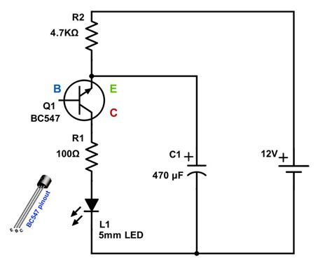Blinking Led With Single Transistor