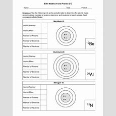 Bohr Models Of Isotopes 3 Worksheets 3 Skill Level Versions Of Each 18 Pages