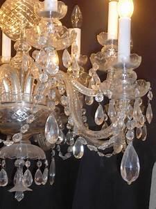 Lustre Pampilles Cristal : lustre a pampilles en cristal de boh me antiquit opio ~ Teatrodelosmanantiales.com Idées de Décoration