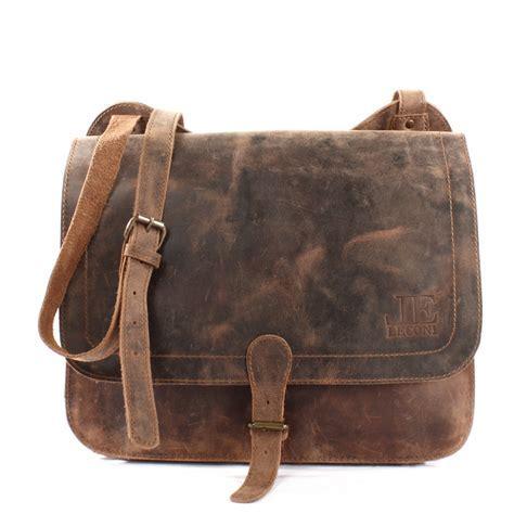 LECONI Messenger Bag Leder braun LE3020