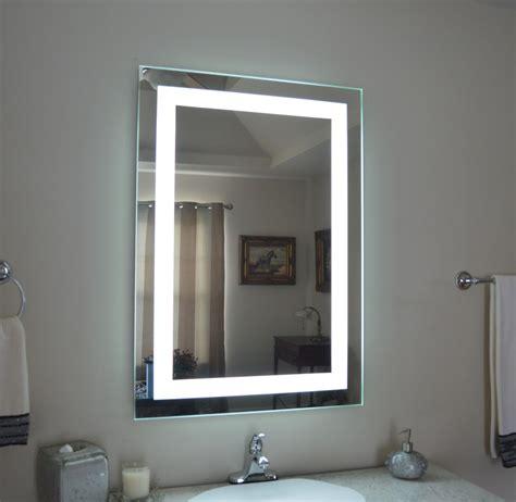 Lighted Bathroom Vanity Make Up Mirror, Led Lighted, Wall
