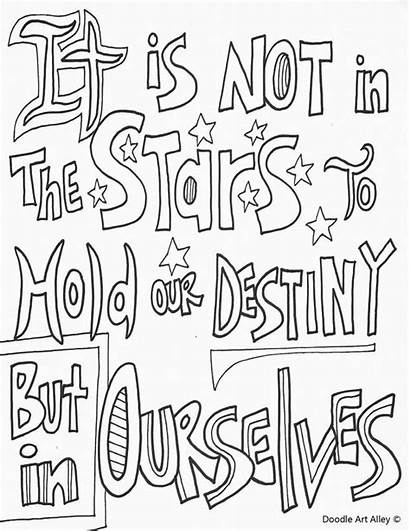 Coloring Pages Quote Colouring Doodle Alley