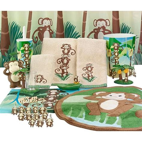 Monkey Bath Set At Target by Bathroom Accessories Your Boy Will Bath