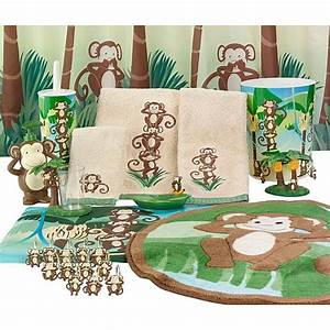 bathroom accessories your little boy will love bath With monkey bathroom set
