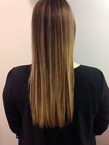 Ombré Hair Chatain : ombr hair ch tain chocolat froid vers le blond tr s clair ~ Nature-et-papiers.com Idées de Décoration