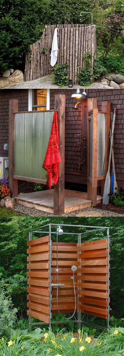 diy outdoor shower ideas shower fixtures creative