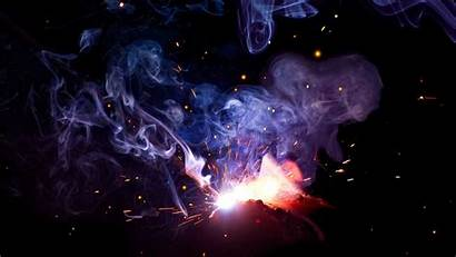 Smoke Welding Sparks Colored Flash Dark Wallpapers