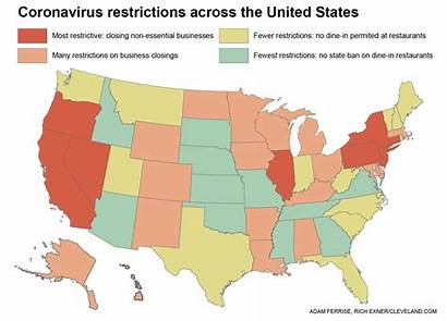 States Coronavirus State Covid United Restrictions Every