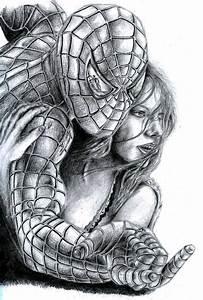 Black Spiderman Drawings In Pencil - Drawing Of Pencil