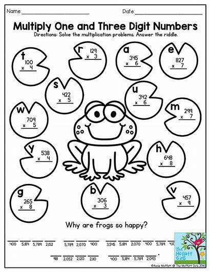 Multiplication Grade Math Worksheets Riddle Fun Digit